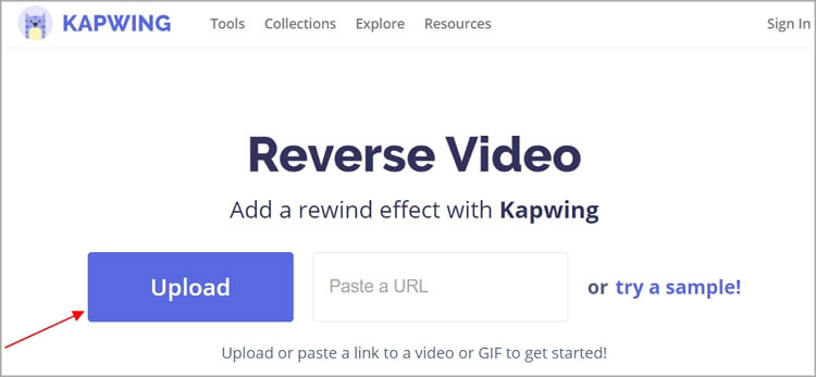 How to Reverse YouTube Videos with KAPWING