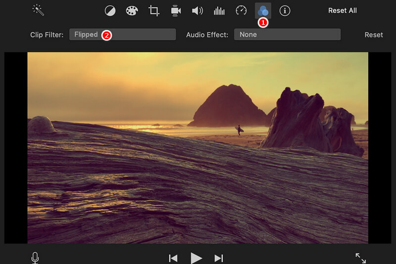 How to Flip a Video in iMovie - Flip Horizontally