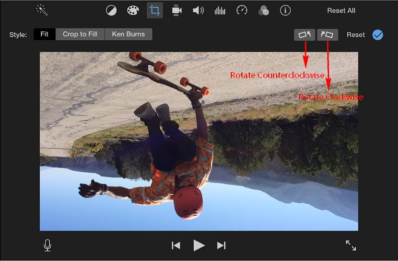 How to Rotate a Video in iMovie - Rotation