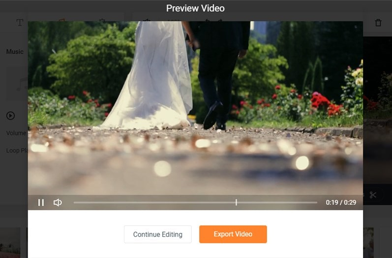 Make a save the date video: preview and save