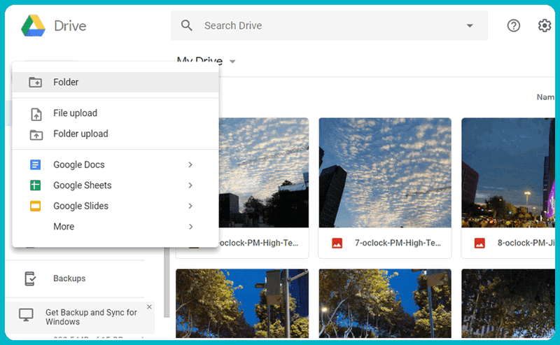 Upload large video to Google drive.