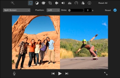 Make Split Screen Video on iMovie