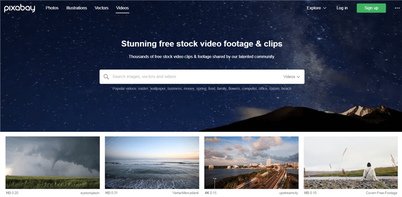 Free Stock Video Sites - pixabay.com