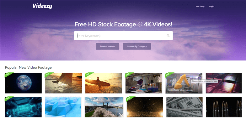 Free Stock Video Sites - videezy.com
