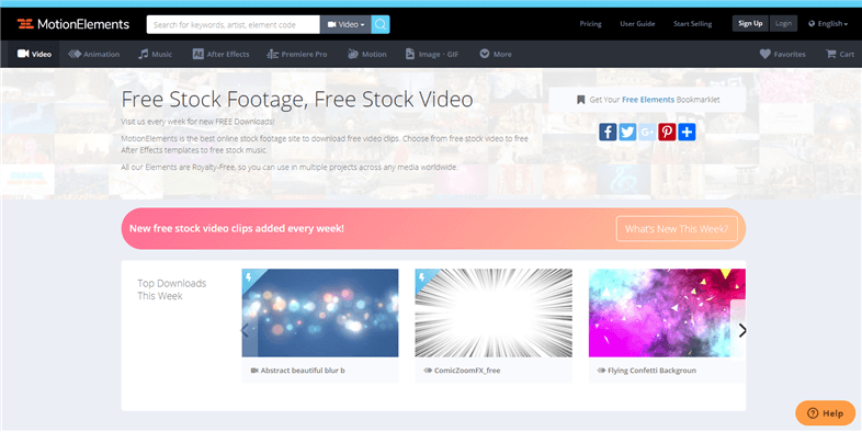 Free Stock Video Sites - motionelements.com