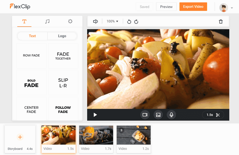FlexClip helps you make tasty food video online.
