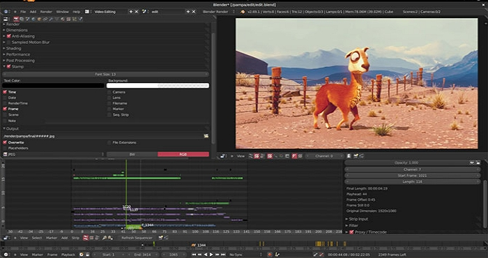 Best Video Editor for Mac - Blender