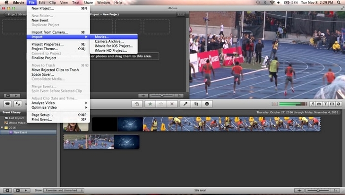 Best Video Editor for Mac - iMovie