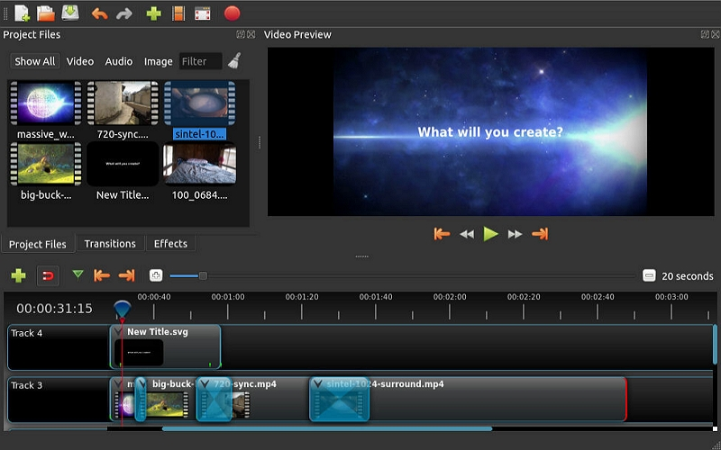 Best Video Editor for Windows - Openshot