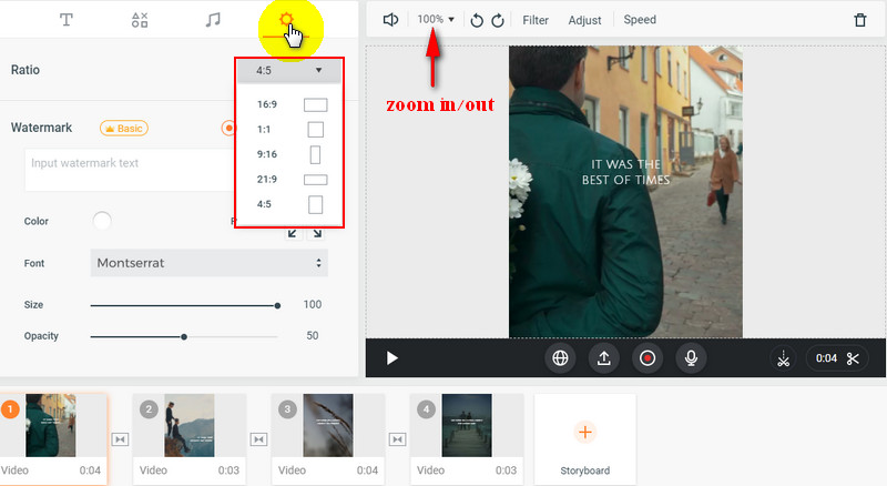 Resize Video for Instagram with FlexClip - Resize
