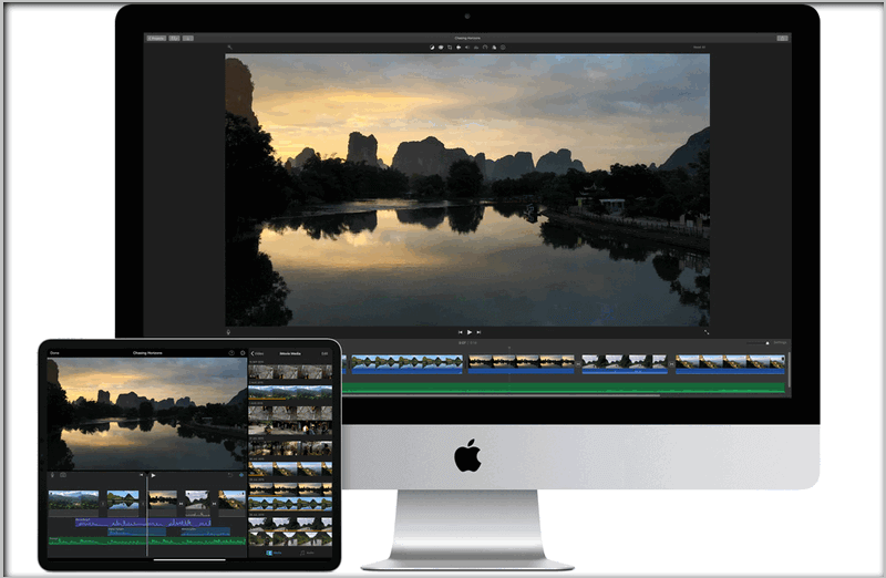 iMovie crops videos for free.