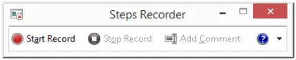 Windows Steps Recorder.