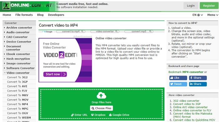 How to Convert WLMP to MP4 - Online Convert